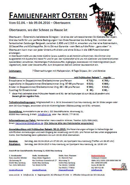 Reiseausschreibung Programmheft 2016-Obertauern-Osterfahrt